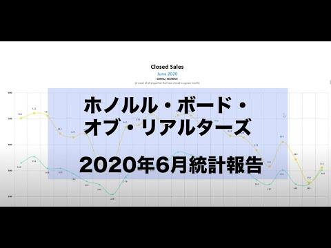 ホノルル2020年6月市場統計